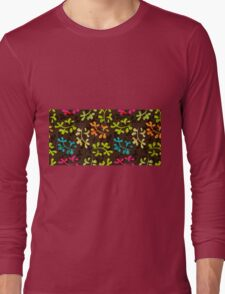 Cute floral pattern with leaves Long Sleeve T-Shirt