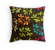 Cute floral pattern with leaves Throw Pillow