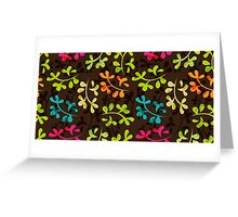 Cute floral pattern with leaves Greeting Card