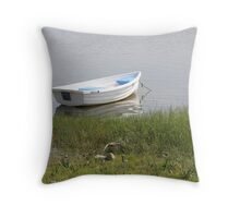 Patient Dinghy Throw Pillow