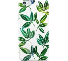 Pattern with abstract palm leaves iPhone Case/Skin