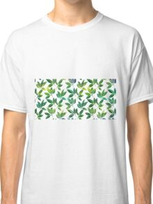 Pattern with abstract palm leaves Classic T-Shirt