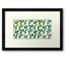 Pattern with abstract palm leaves Framed Print
