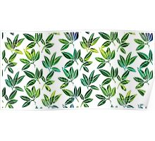 Pattern with abstract palm leaves Poster