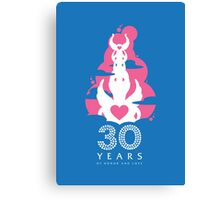 30 Years of Honor and Love Canvas Print
