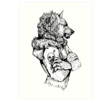 Wolf Rising Inks Art Print