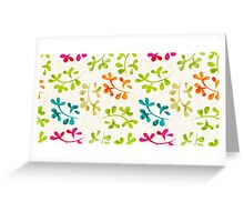 Floral pattern with cute leaves Greeting Card