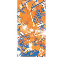 Abstract Blue Orange Photographic Print