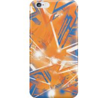 Abstract Blue Orange iPhone Case/Skin