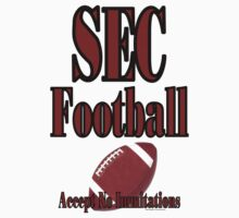 SEC Football T Shirt  by bamagirl38