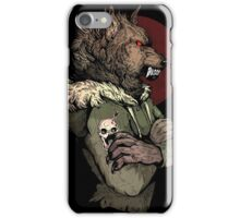 Wolf Rising Brown iPhone Case/Skin