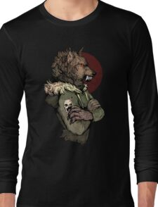Wolf Rising Brown Long Sleeve T-Shirt