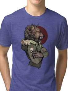 Wolf Rising Brown Tri-blend T-Shirt