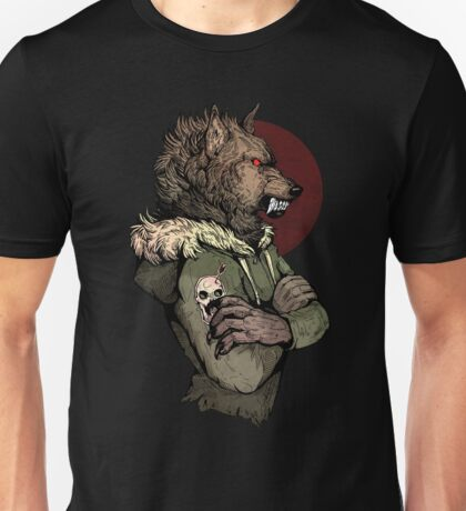 Wolf Rising Brown Unisex T-Shirt