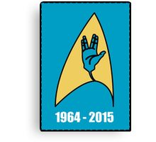 Star Trek - Vulcan Salute Badge Canvas Print