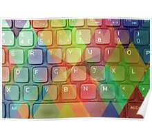 Keyboard + Triangles Poster