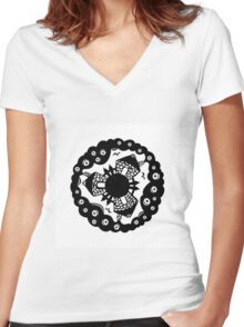 Small World Women's Fitted V-Neck T-Shirt