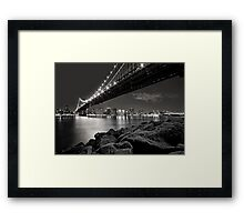 Sleepless Nights And City Lights Framed Print