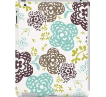 Seamless floral pattern with cute flowers on a white background iPad Case/Skin