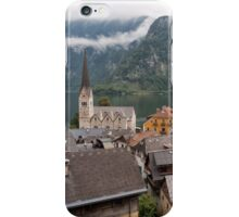 Evangelical Church of Christ and rooftops of Hallstatt iPhone Case/Skin