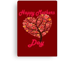 mothers day heart tree Canvas Print