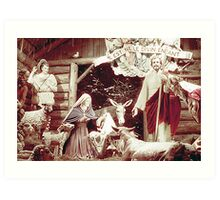 Nativity Scene, Montreal, 1955 Art Print
