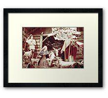 Nativity Scene, Montreal, 1955 Framed Print