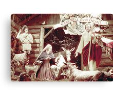Nativity Scene, Montreal, 1955 Canvas Print