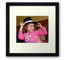 Blues Sister Amelia Framed Print