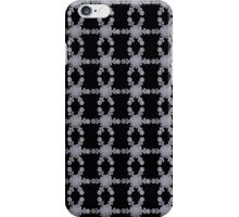 Silver Snowflakes on Black iPhone Case/Skin