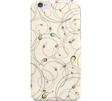 Abstract curly pattern iPhone Case/Skin