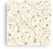 Abstract curly pattern Canvas Print