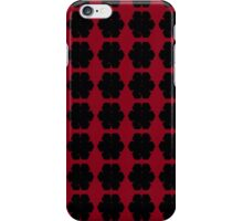 Black Snowflakes on Red  iPhone Case/Skin