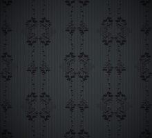 Black floral pattern. by LourdelKaLou