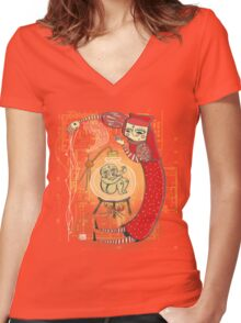 medieval Magic baby!! Women's Fitted V-Neck T-Shirt