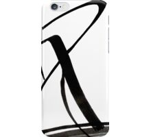 Calligraphy Art, Black & White Abstract Art, Japanese-Inspired  Ink Pianitng iPhone Case/Skin