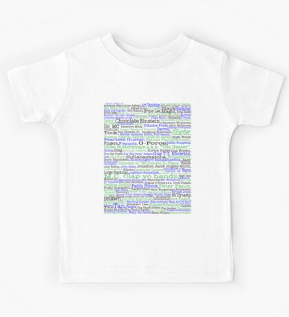 Psych tv show poster, nicknames, Burton Guster Kids Tee