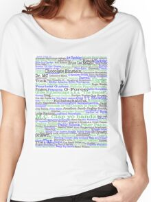Psych tv show poster, nicknames, Burton Guster Women's Relaxed Fit T-Shirt