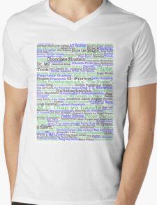 Psych tv show poster, nicknames, Burton Guster Mens V-Neck T-Shirt