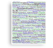 Psych tv show poster, nicknames, Burton Guster Canvas Print