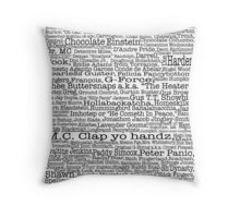 Psych tv show poster, nicknames, Burton Guster Throw Pillow