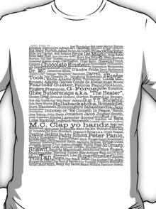 Psych tv show poster, nicknames, Burton Guster T-Shirt