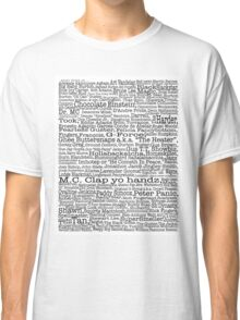 Psych tv show poster, nicknames, Burton Guster Classic T-Shirt