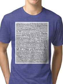 Psych tv show poster, nicknames, Burton Guster Tri-blend T-Shirt