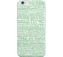 Psych tv show poster, nicknames, Burton Guster iPhone Case/Skin