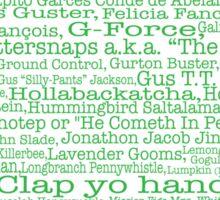 Psych tv show poster, nicknames, Burton Guster Sticker