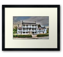 The Derussy House at Fort Monroe Framed Print