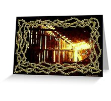 Barnlight and Barbed Wire Greeting Card