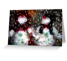 Mr and Mrs Frosty 2009/Merry Christmas  Greeting Card