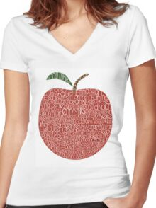 Once upon a time characters Women's Fitted V-Neck T-Shirt